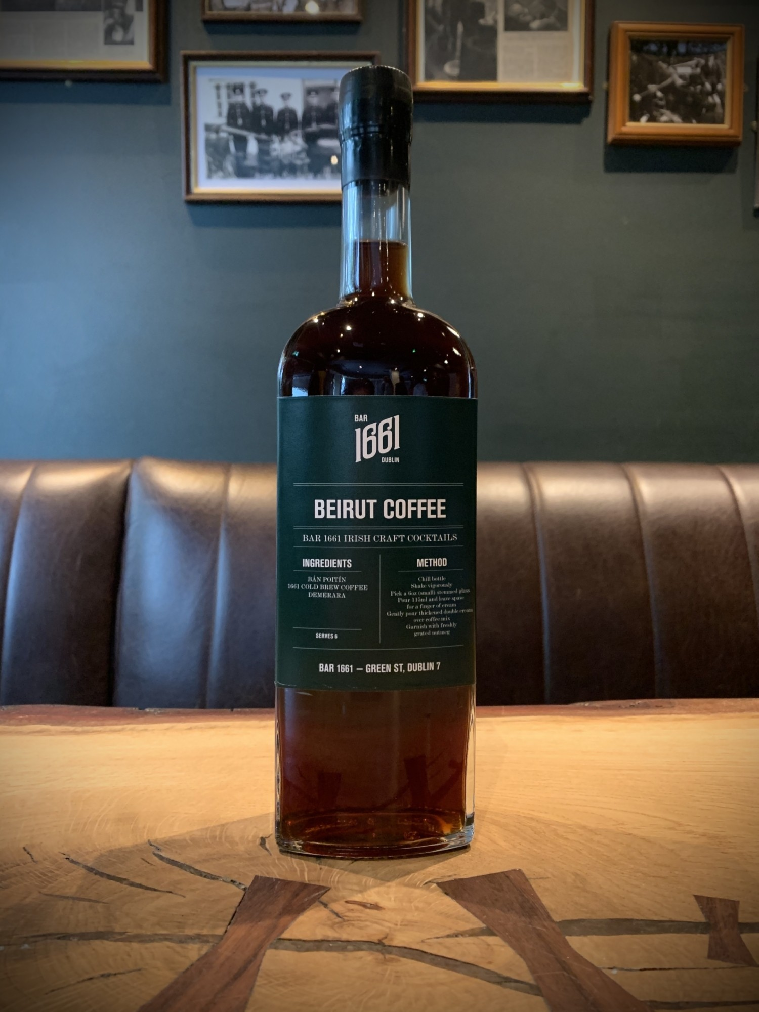 Ireland's Best Cocktail Bar BAR 1661 supports Beirut bar with limited  edition 'Beirut Coffee' Craft Cocktail