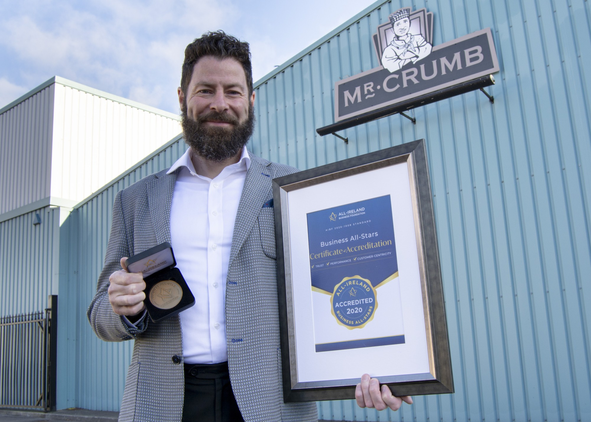 "Mr. Crumb awarded ""All-Ireland All-Star Innovative Company 2020"""